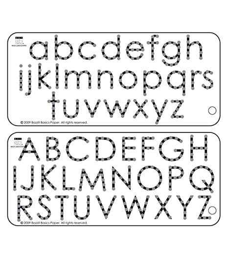 Bazzill 3 5 X 8 Inch Adhesive Alphabet Jewel Templates Pack Of 2