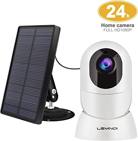 side facing lemnoi wireless solar security camera