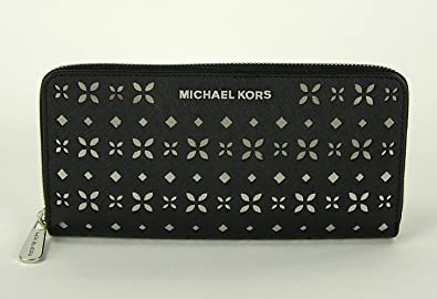 76fd3c13fb61 Image Unavailable. Image not available for. Color  MICHAEL MICHAEL KORS Jet  Set Travel Perforated-Leather Continental Wallet