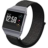 Fitbit Ionic Bands Sport Loop Small Large, hooroor Breathable Comfortable Adjustable Closure Wrist Replacement Nylon Velcro WristBands Straps For Fitbit ionic Fitness Smart Watch Women Men More Colors