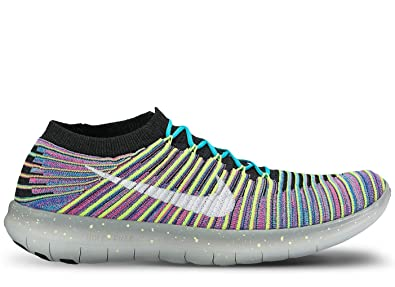 Nike Free RN Motion Flyknit Running Shoes (10 D(M) US, Black