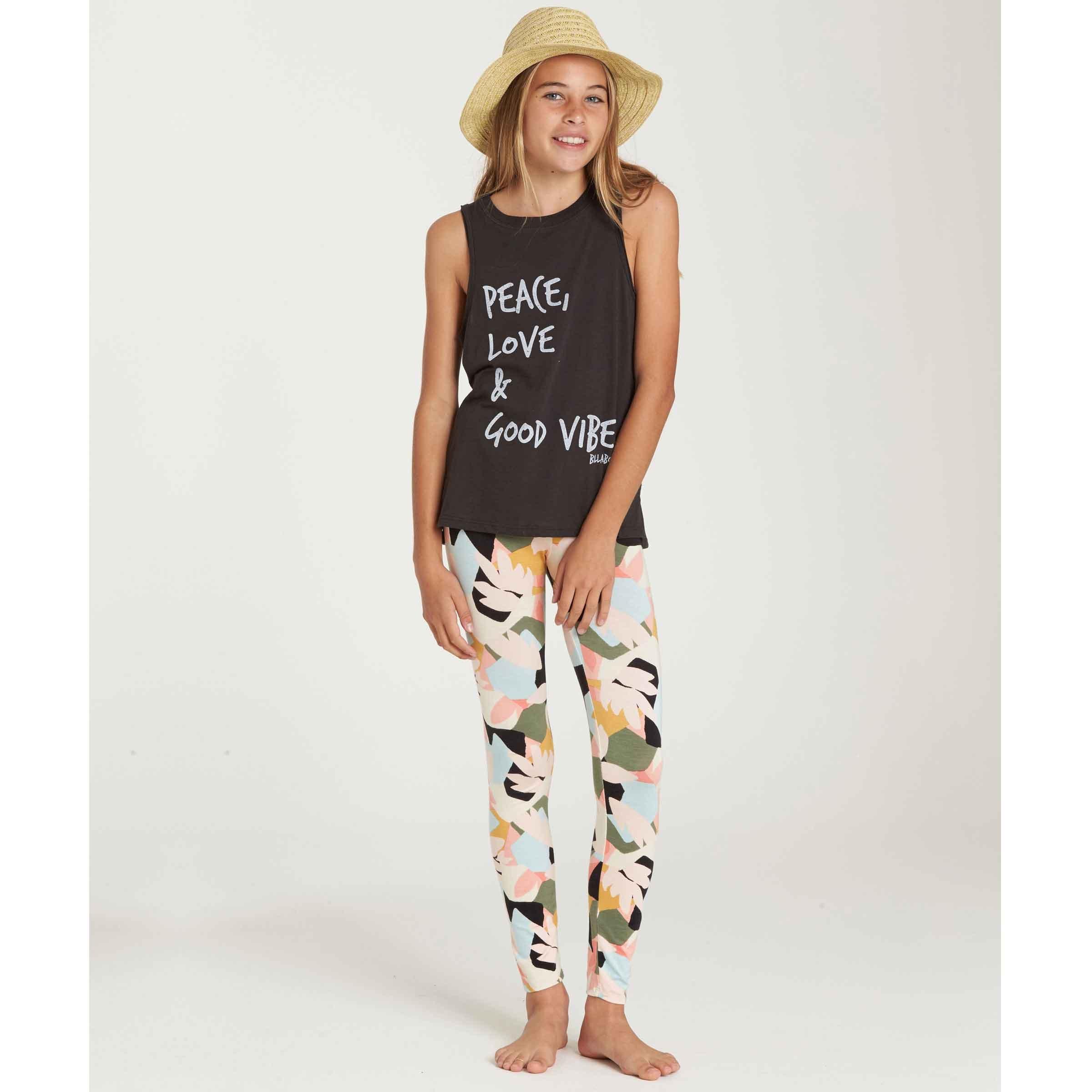 Billabong Big Girls' Legging Pant, Multi, L
