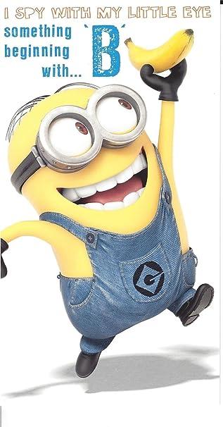 Amazon.com: Official Despicable Me 2 Minions Tarjeta de ...