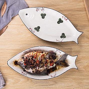 Amazon.com: MJHSP - Plato de cerámica para restaurante ...