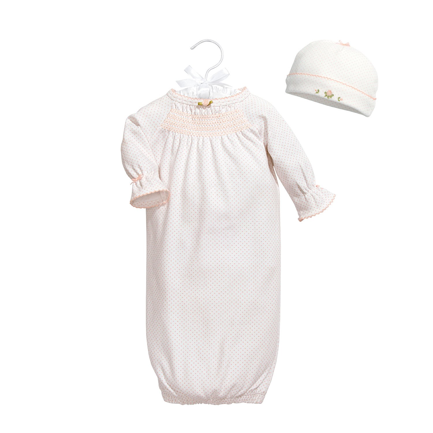 C.R. Gibson Heaven Sent Special Delivery Newborn Gown Gift Set, Fits Sizes 0-3 Months, Pink Dot