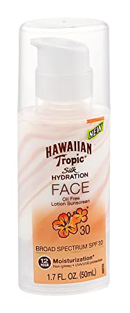 Hawaiian Tropic Silk Hydration Spf 30 Face 1.7 Ounce 50ml 6 Pack