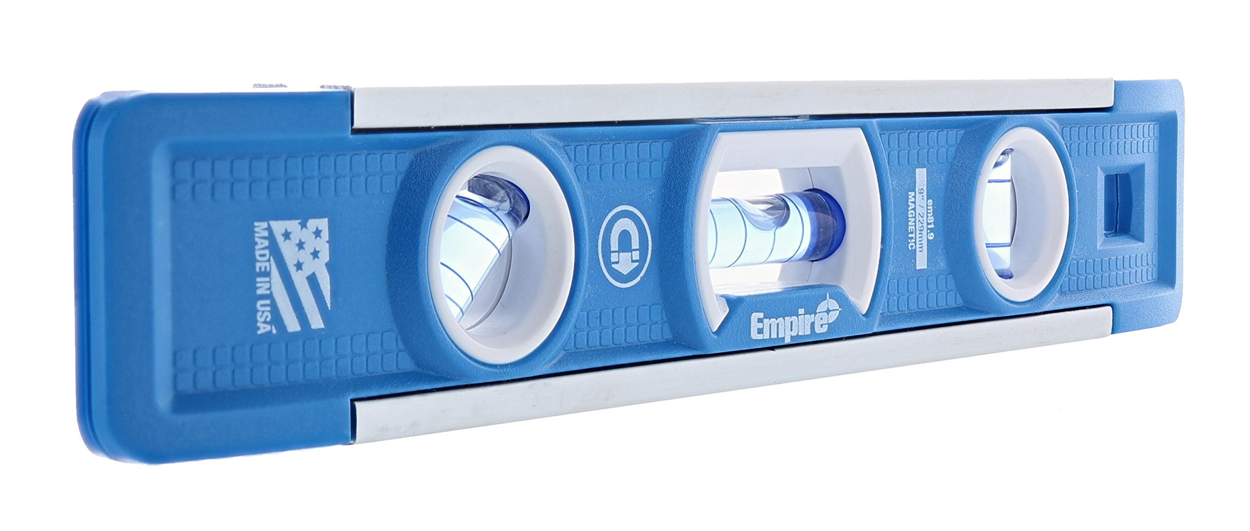 Empire EM81.9 True Blue 9-Inch Heavy-duty Magnetic Aluminum Torpedo Level (Twin Pack) by EMPIRE (Image #2)