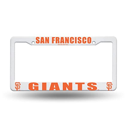 Amazon.com : MLB San Francisco Giants Plastic License Plate Frame ...