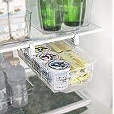 Smart Design Refrigerator Pull Out Bin Drawer & Home Organizer - Extendable Rails & Handle - Fridge, Freezer, Pantry Food Sto