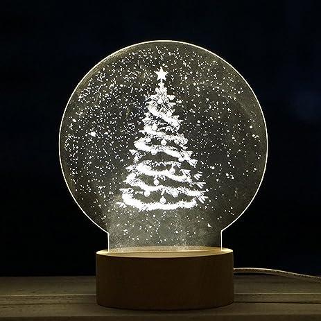 christmas tree decoration lightfaber3 christmas panel acrylic 3d led christmas tree lamp night light - 3d Acrylic Christmas Decorations