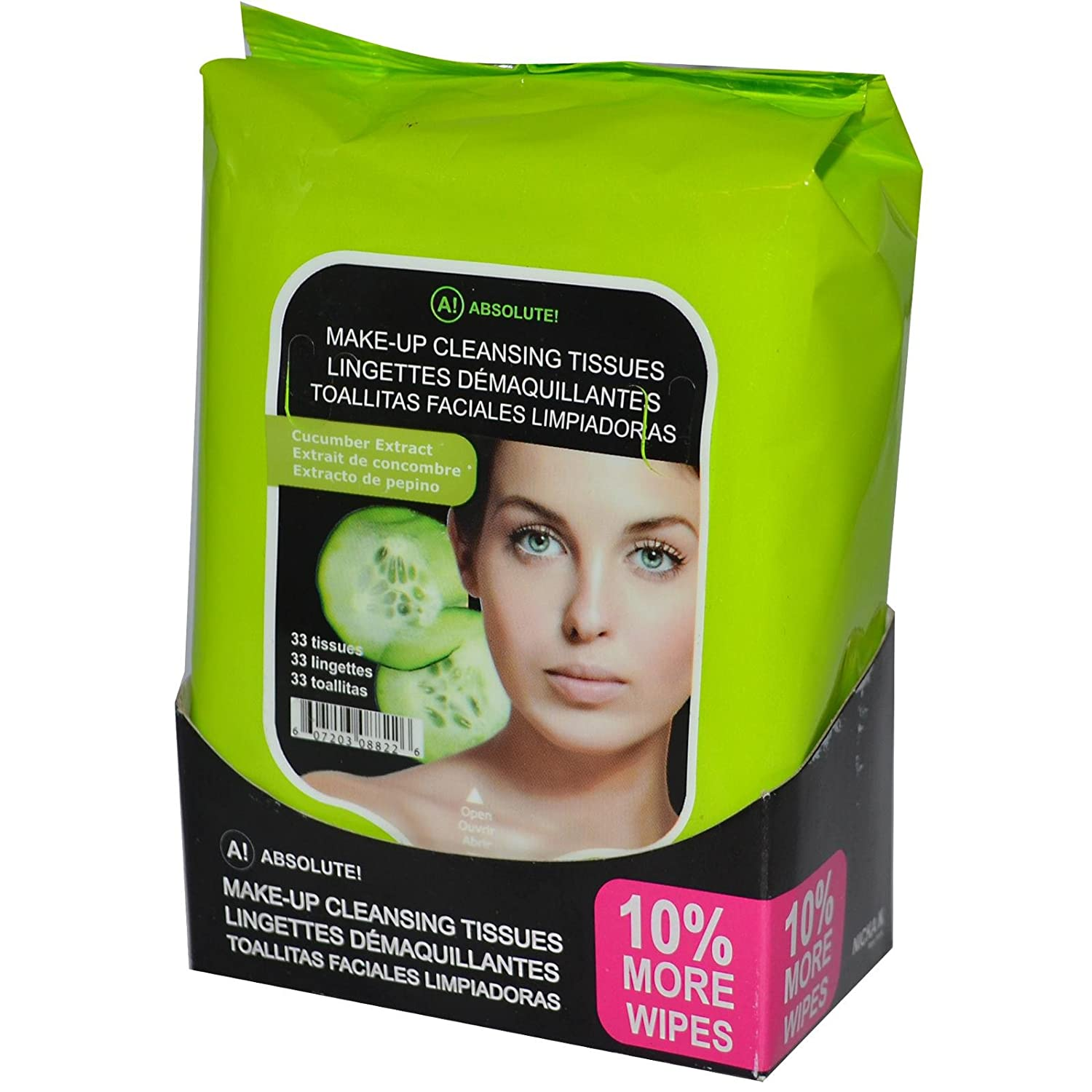 Absolute New York Make-Up Cleansing Tissue, Green Tea, 60 Ct Stages of Beauty Harmony Facial Scrub, Anti-Aging Formula for Effective Exfoliation, 60 mL