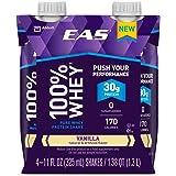EAS 100% Whey Ready-to-Drink Protein Shake, Vanilla, 11 fl oz, 4 Count