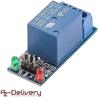 AZDelivery KF-301 1-Rele 5V Modulo Low-Level-Trigger para Arduino con eBook incluido