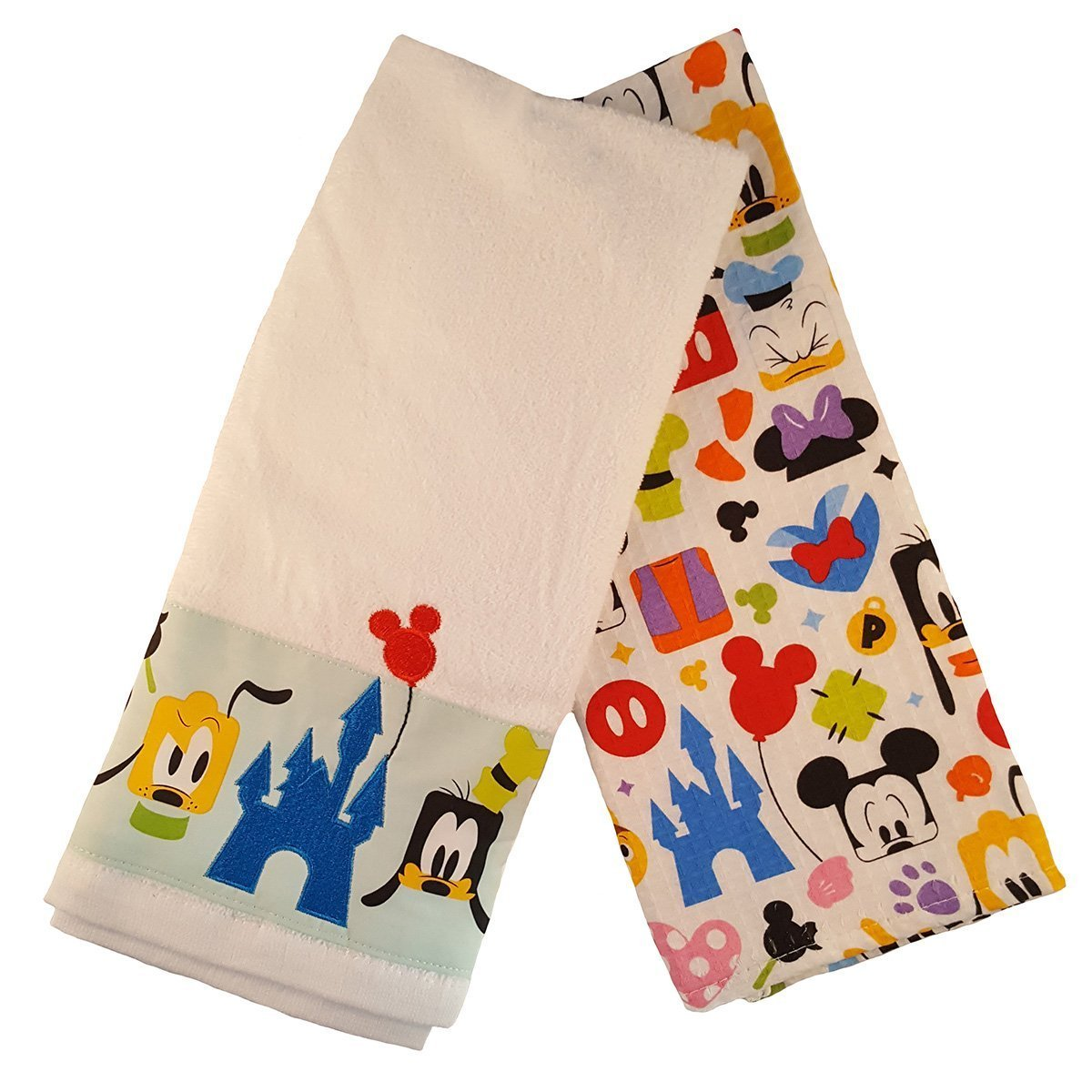 Disney Parks Mickey Mouse and Friends Colorful Kitchen Towel Set of 2 NEW by Disney