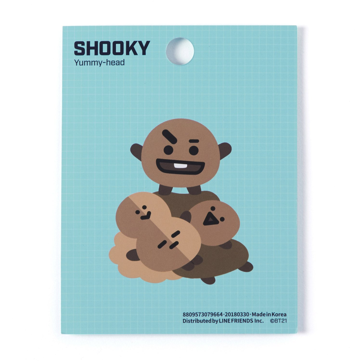 5f91dc899005e BT21 Official Merchandise by Line Friends - SHOOKIE Character Cute 3pc  Office Supplies Set with File Folder, Sticky Note, and Mouse Pad
