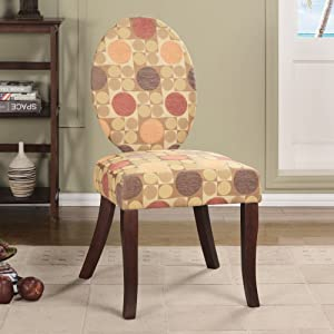 K and B Furniture Co Inc K&B AC7231 Multicolored Fabric and Wood Accent Chair