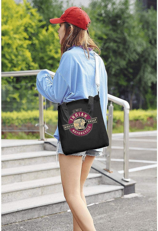 Shoulder Bags Casual Crossbody Bags Womens Canvas Handbags Travel Tote Bag Indian-Motorcycles-logp