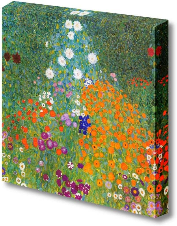 "Bauerngarten by Klimt Giclee Canvas Prints Wrapped Gallery Wall Art | Stretched and Framed Ready to Hang - 24"" x 24"""