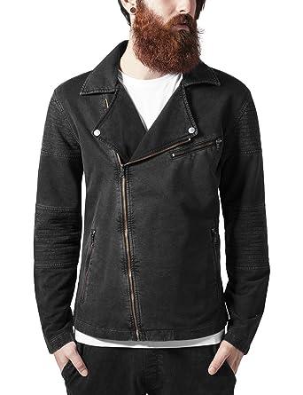 Urban Classics Acid Wash Terry Biker Jacket Chaqueta para Hombre