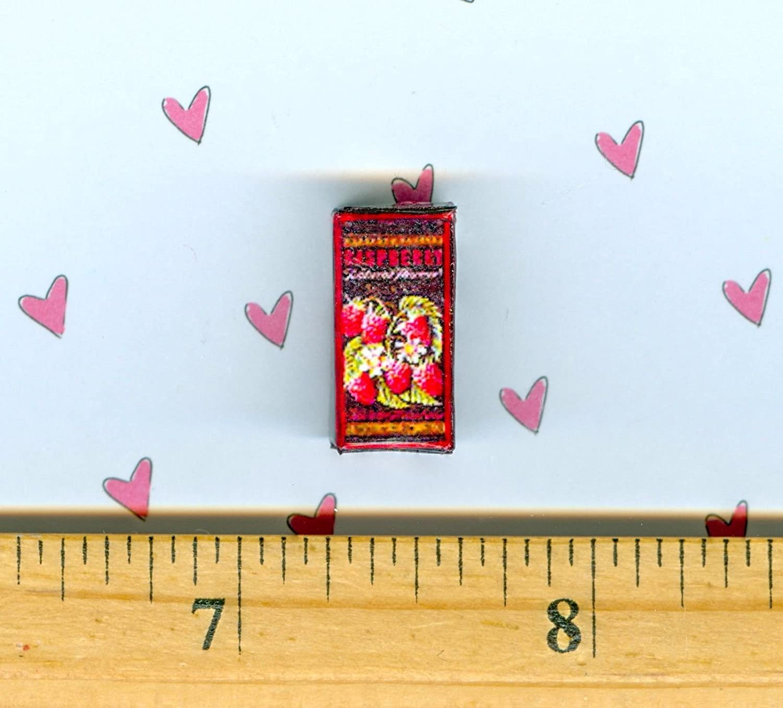 Dollhouse MINIATURE  Size Tea Box  Raspberry Green Tea