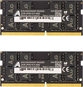 "Astra Gear 64GB (2 x32GB) Upgrade for 2020 Apple iMac 27"" w/Retina 5K Display & 2019 Apple iMac 27-inch w/Retina 5K Display DDR4 Non ECC 2666MHz (PC4-21300) CL19 1.2V SO-DIMM (AHA19ASDRAG8T-BG26SD)"