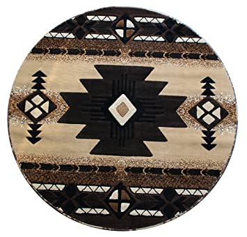 native american round area rug 5 ft x 5 ft berber c318