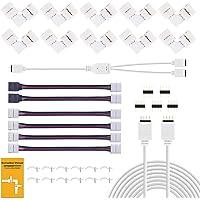 REDTRON LED-strip connector, LED-strip verlenging, LED-strip hoekverbinding, LED-strip bevestigingsclips, voor 10 mm 4…