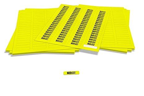 Amazon.com: Amarillo fluorescente rectangular etiquetas ...