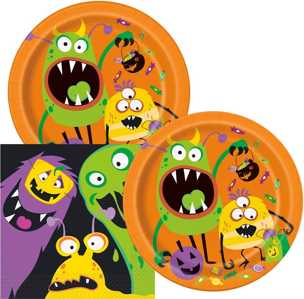 Silly Halloween Monsters Party Supplies by Unique