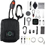 Emergency Survival Kit Grenade - 25 Accessories First Aid Kit Survival Wrapped in 550 lb Paracord Survival Grenade Cord for Emergencies