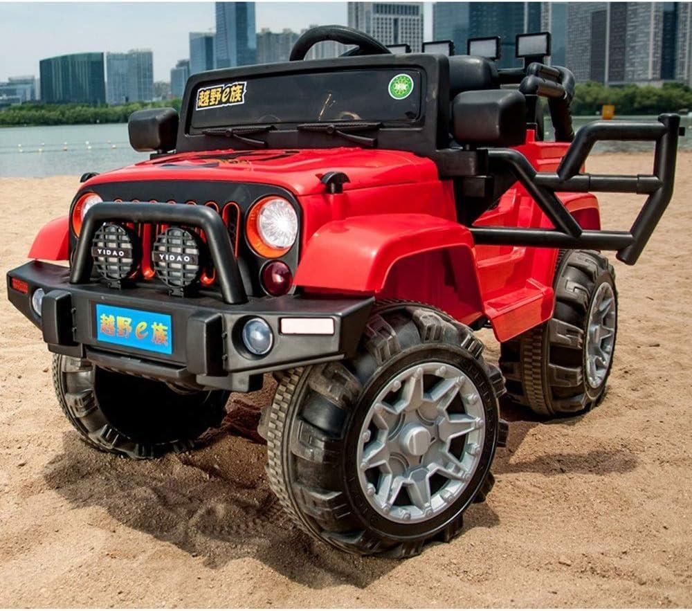 4輪4駆動12V7ビッグバッテリー4輪サスペンションスイング早期教育オフロード子供電気自動車おもちゃ充電車座れる人リモコンベビーカー(色:赤)