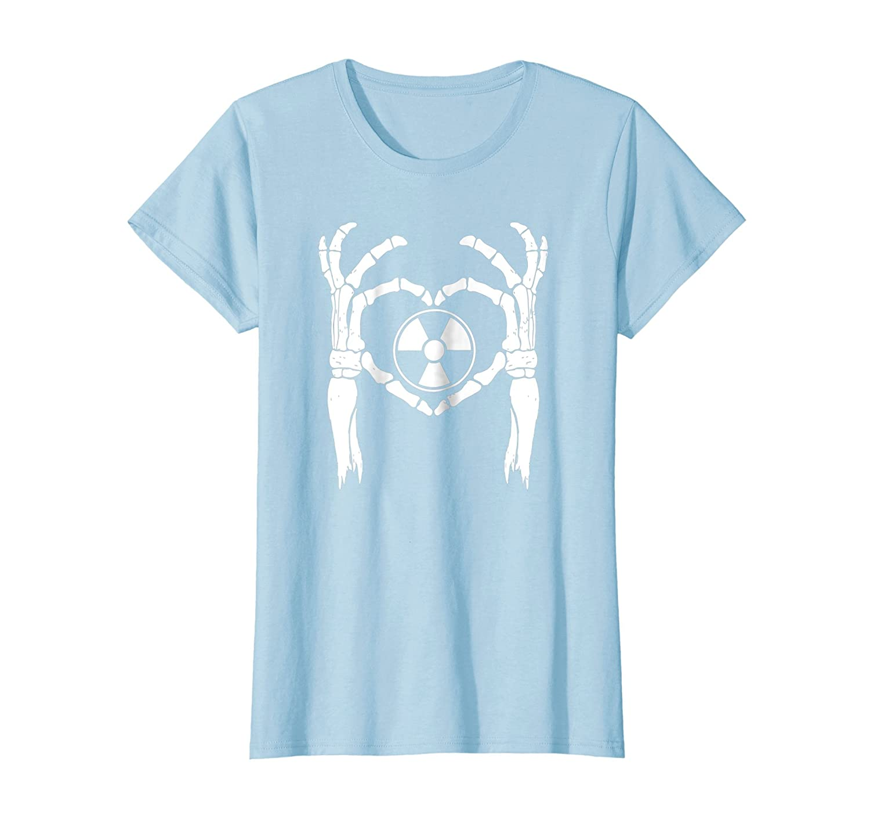 RADIOLOGY RAD TECH SKELETON LOVE, RT Rad Tech Heart Shirt-Bawle