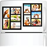 """Top Home Solutions – Pack of 2 Magnetic Picture Frame Collage for Refrigerator, School Locker, File Cabinet, Toolbox, or Dry Erase Boards. Holds 5 – 4"""" x 6"""" Photos."""