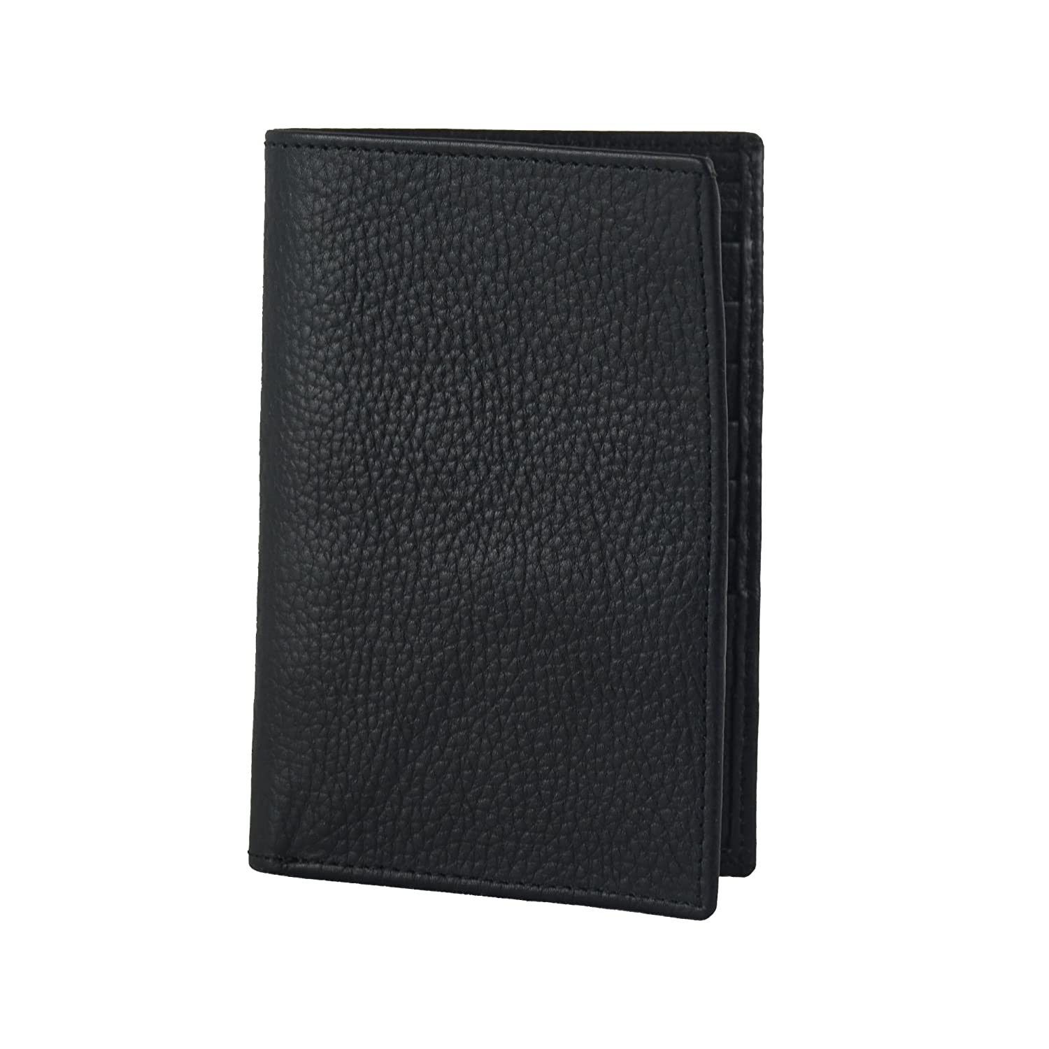 Brown Office Accessory Credit Card Organizer Genuine Leather Long Bifold Slim Wallet