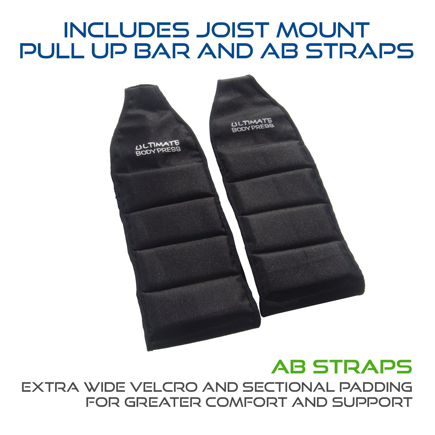 Ultimate Body Press Joist Mount Pull Up Bar + Ab Straps by Ultimate Body Press (Image #2)