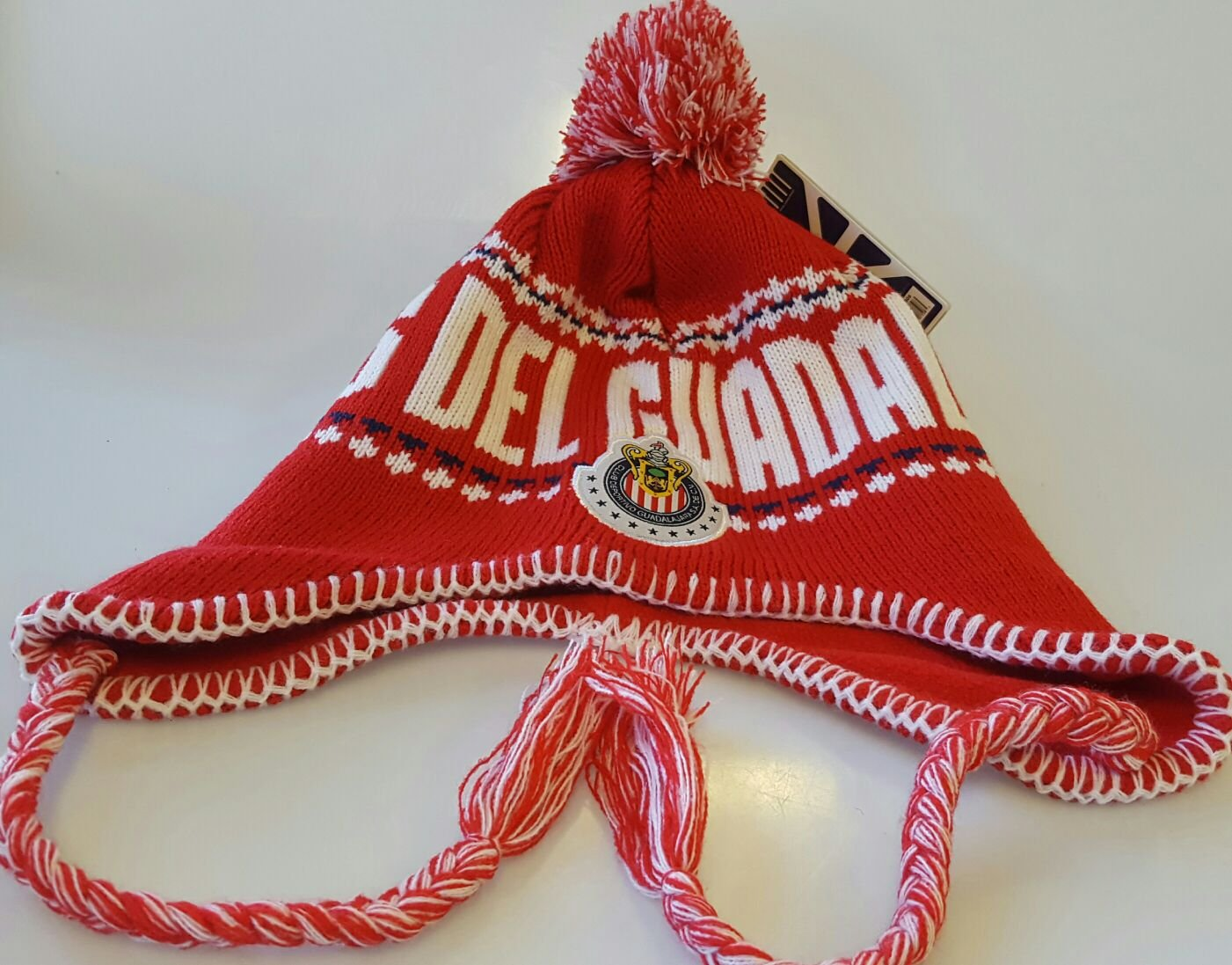 Chivas del Guadalajara Official Licensed Peruvian Tassels Beanie Knit Hat