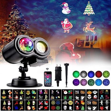 Luces de Proyector de Navidad, LED Lámpara Ola del Océano ...