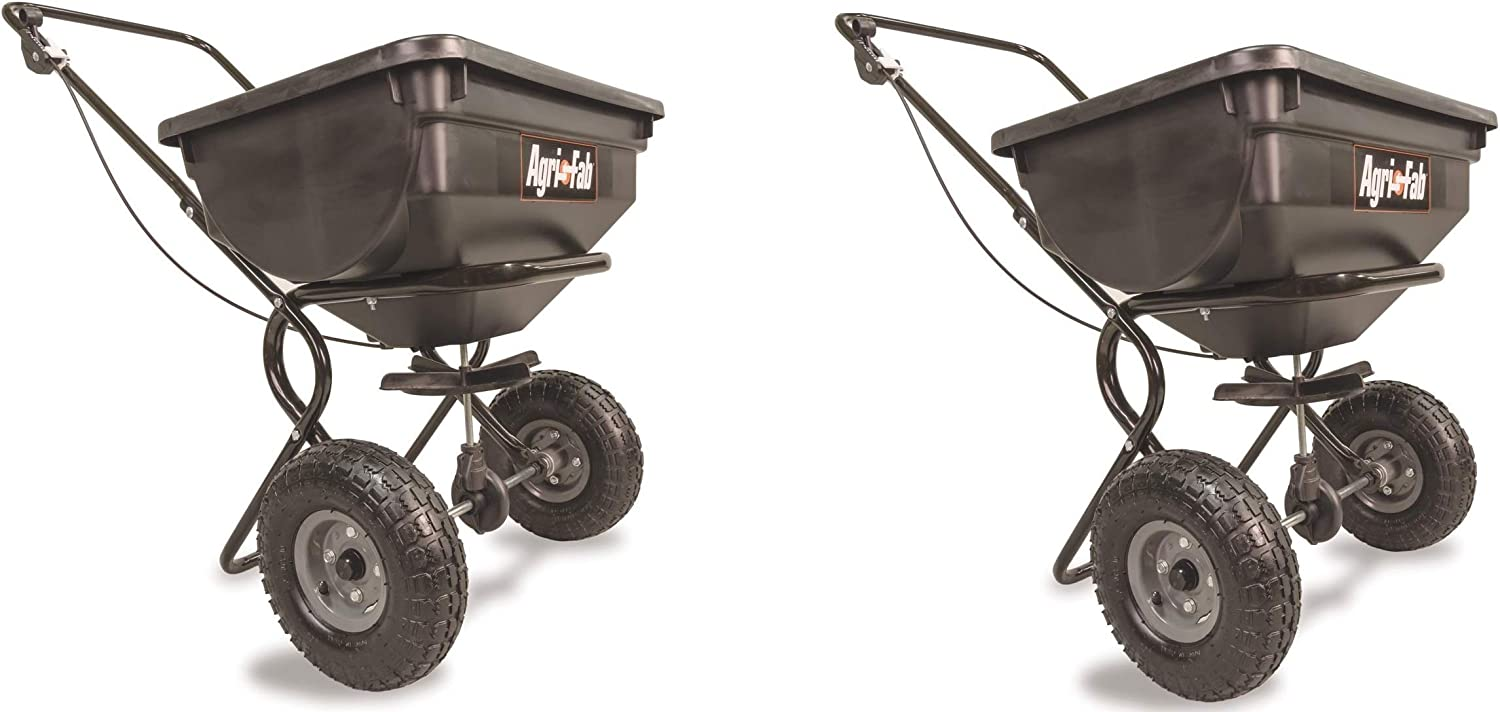 Agri-Fab 85-Pound Push Broadcast Spreader 45-0388 Pack of 2