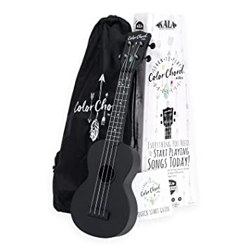 Amazon Kala Learn To Play Color Chord Ukulele Starter Kit For