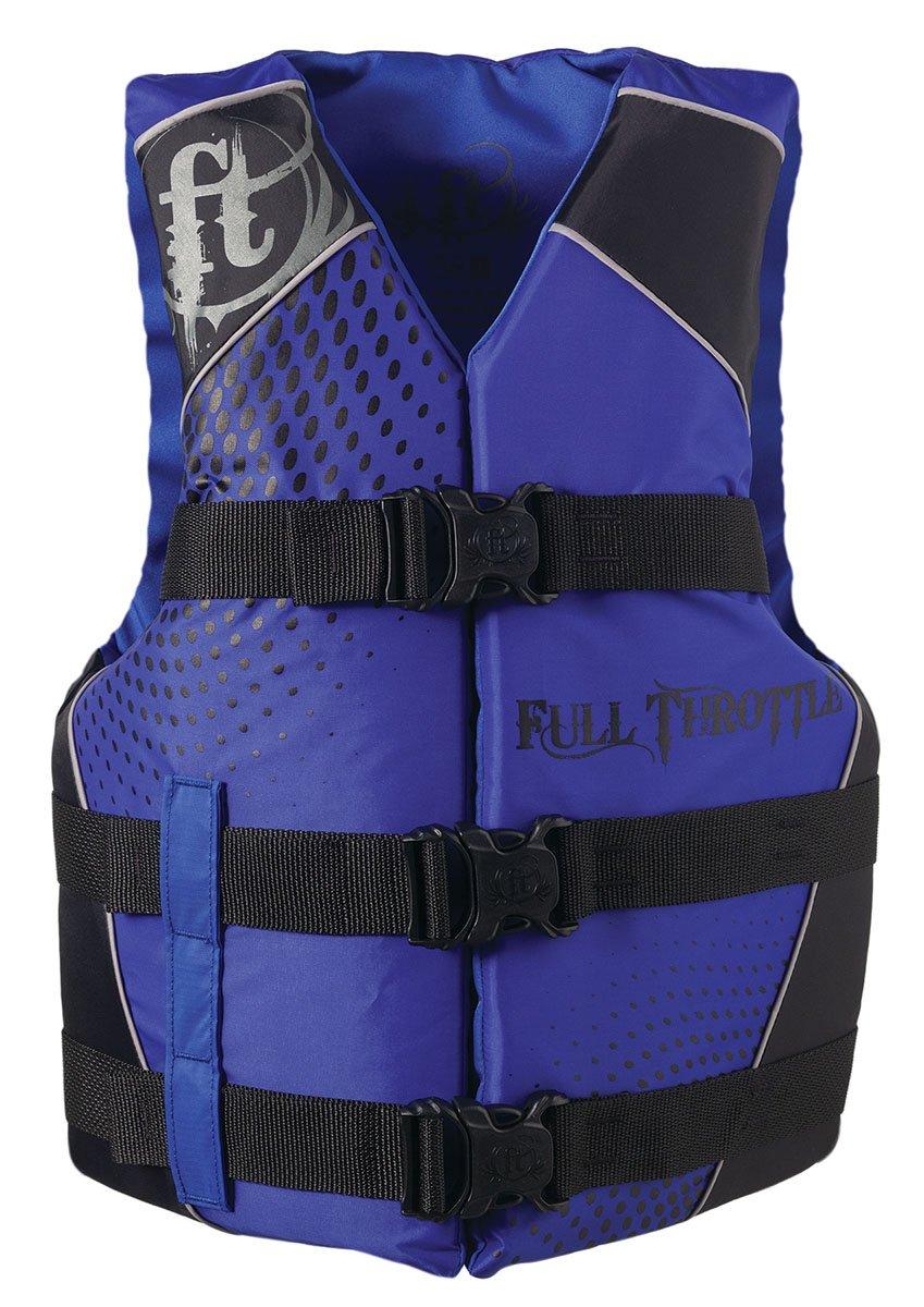 フルスロットルTeen dual-sizedナイロン水スポーツベスト ブルー