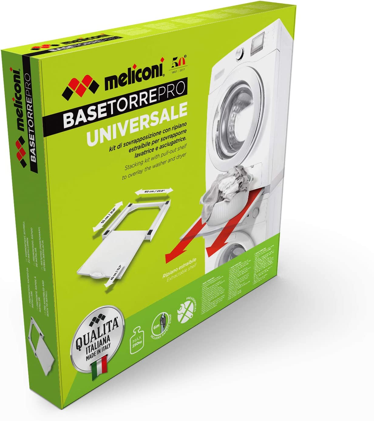 Meliconi Torre Pro Pieza y Accesorio de lavadoras Kit de ...