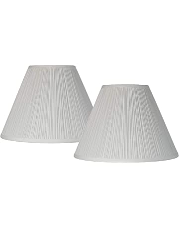 d85db88a6c3 Antique White Pleated Lamp Shade Set of 2 Traditional 6.5x15x11 (Spider) -  Brentwood
