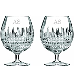 Personalized Glassware Engraved Glass Set Waterford Lismore 12oz Balloon Brandy Glass Custom Glasses