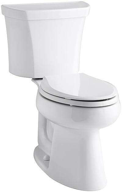 Kohler K-3979-RA-0 Highline Comfort Height 1.6 gpf Toilet Right-Hand Trip Lever
