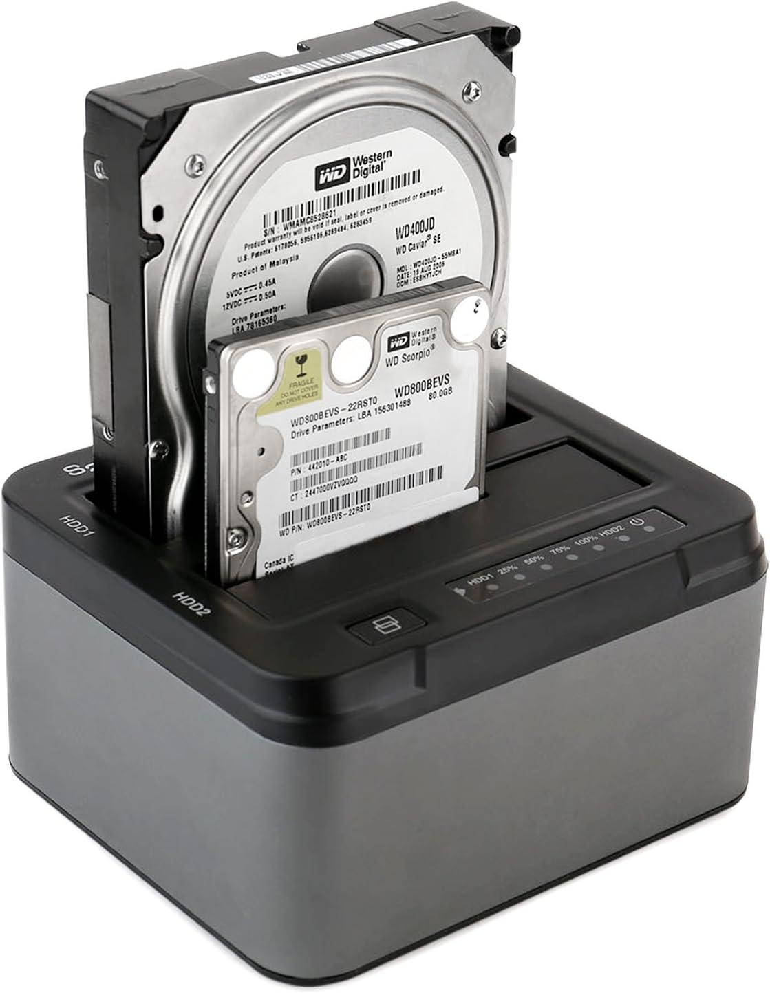 "High-speed USB 3.0 SATA HDD Docking Station Offline Clone 2.5/""//3.5/"" Hard Drive"