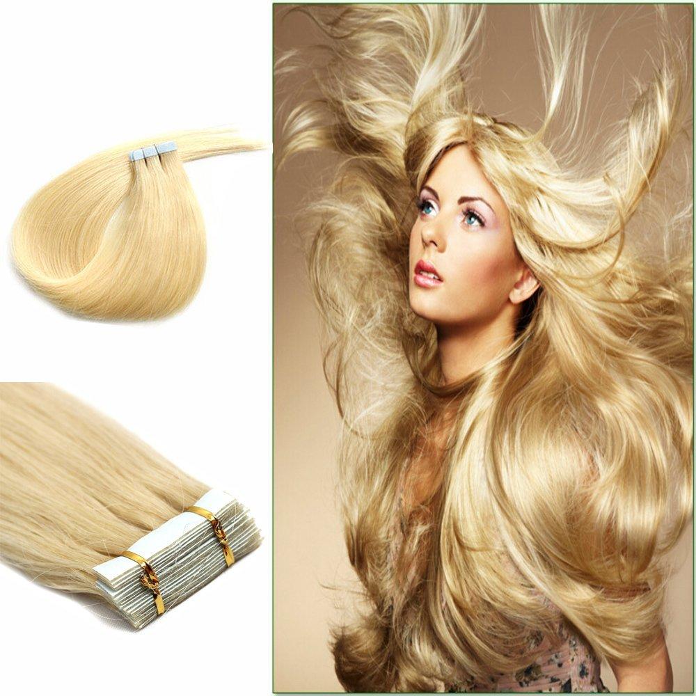 Amazon 26 Inch Long Tape In European Silky Remy Human Hair