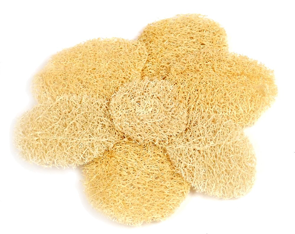 Loofah Savannah - Cuscinetto esfoliante a forma di dalia A-H30/00SN-1