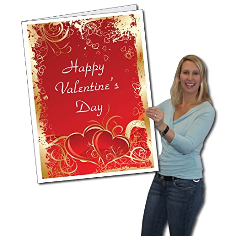 Amazon victorystore jumbo greeting cards giant valentines victorystore jumbo greeting cards giant valentines day card hearts 2 x 3 m4hsunfo