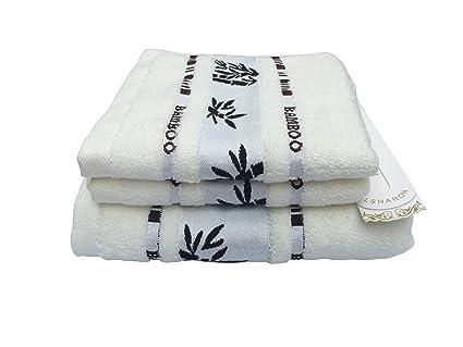 Juego de toallas Lsharon prémium de fibra de bambú, 3piezas