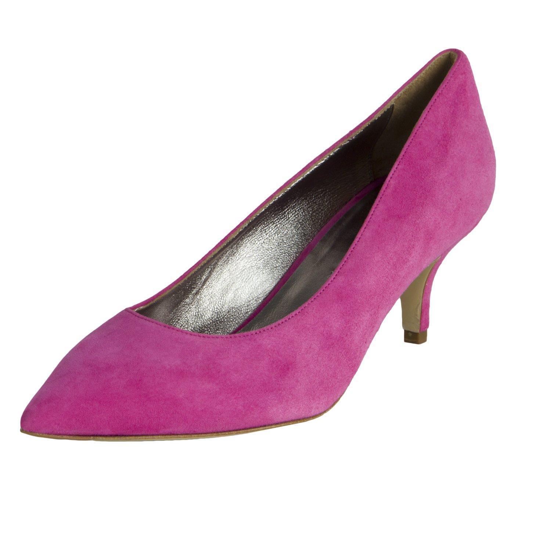 Marina Rinaldi Women's Lora Suede Kitten Heels US 9 / IT 39 Pink